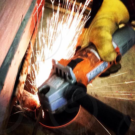 Welding metal grinding  photo