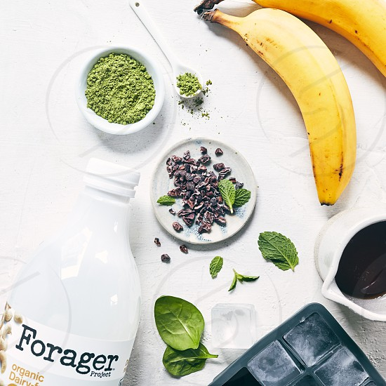 Mint Matcha Chip Smoothie - Before photo