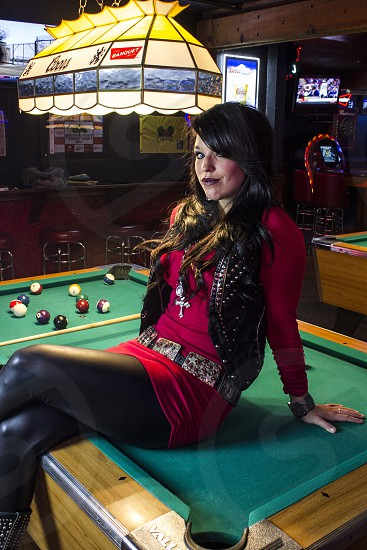 playing pool photo