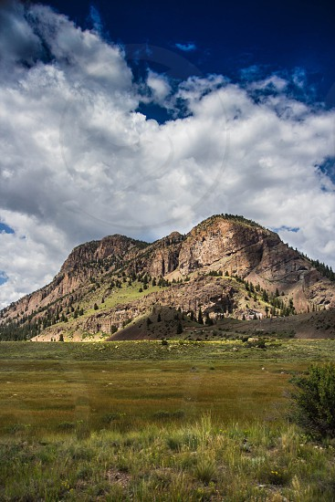green and gray mountain photo
