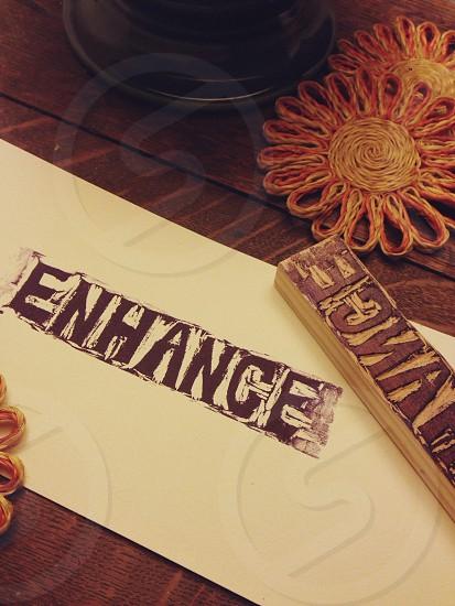 Enhance wood stamp photo