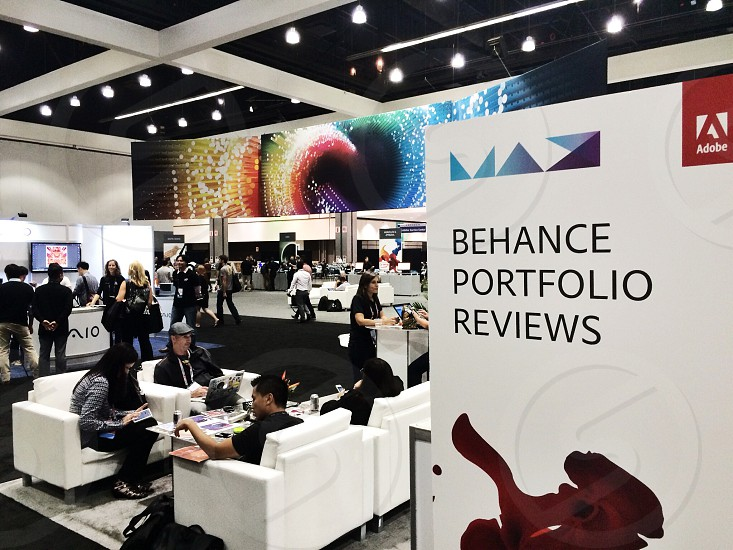 people inside the behance portfolio reviews photo