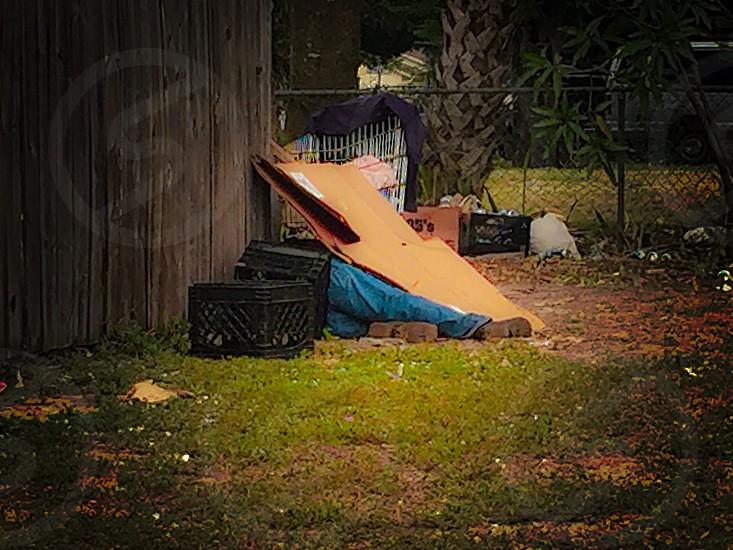 Daily struggles life homeless sleepless nights  photo