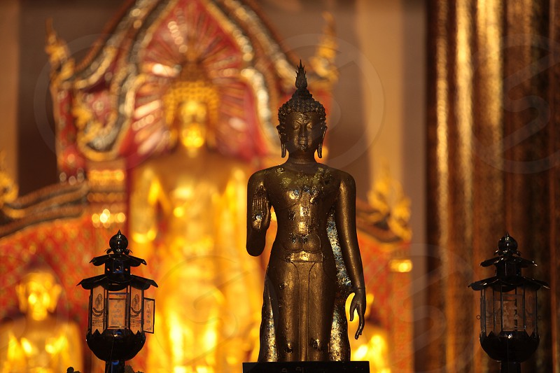 the Wat Phra Sing Temple in the city of chiang mai in the north of Thailand in Southeastasia. 