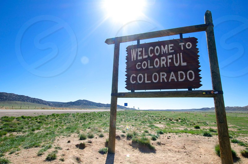 welcome to colorful colorado sign photo