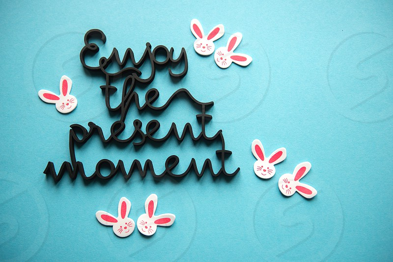 Enjoy present moment concept photo