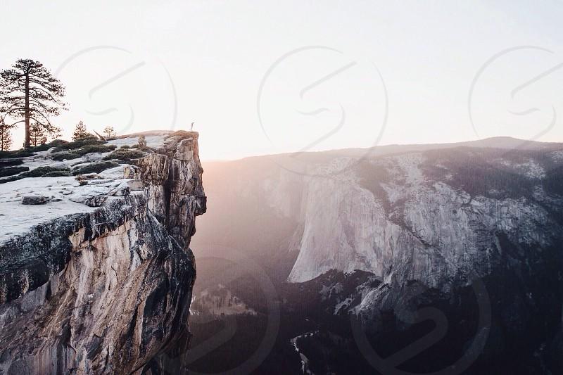 Taft Point. Yosemite National Park. photo