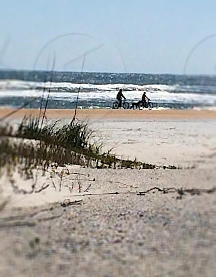 biking on the beach photo