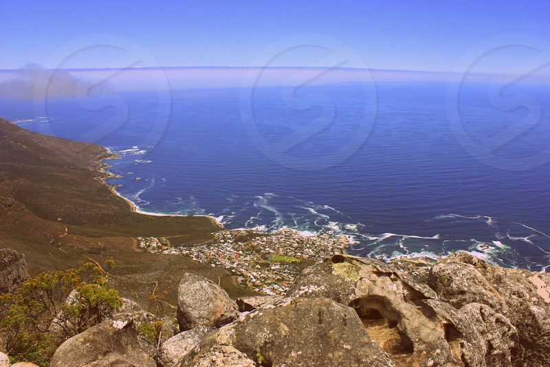 View from Table Mountain Cape Town South  Africa photo