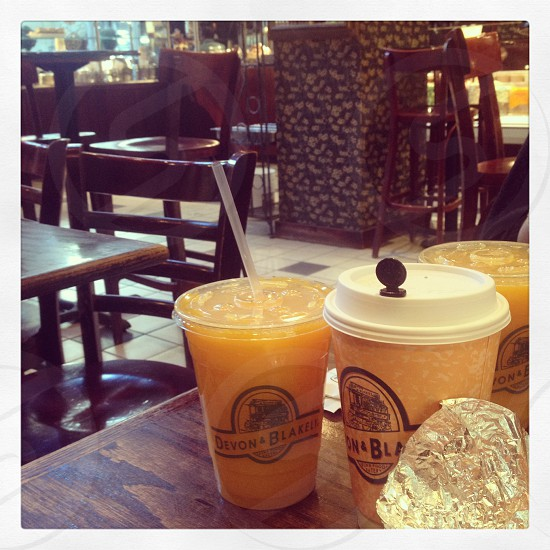 New York City street view Manhattan coffee shop breakfast photo