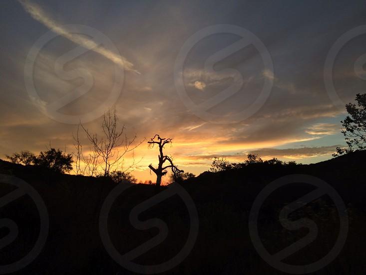 Orange County Sunset Blackstar Canyon CA photo