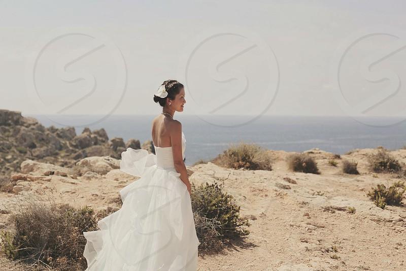Malta bride on cliff top #malta #bride photo