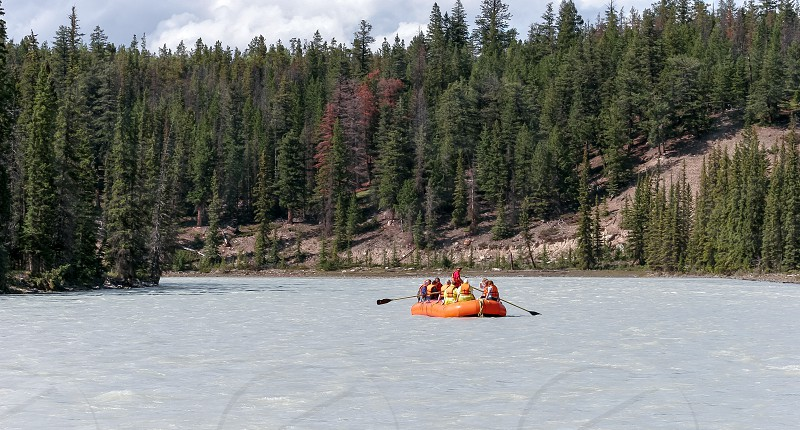 Whitewater rafting on the Athabasca River photo
