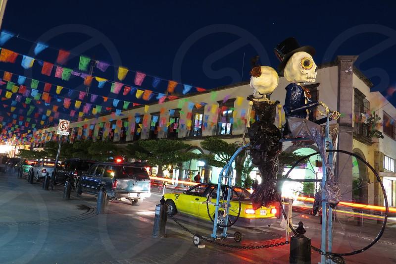 Jalisco Tlaquepaque Dia de los Muertos Day of the Dead Skeletons Downtown Mexico photo