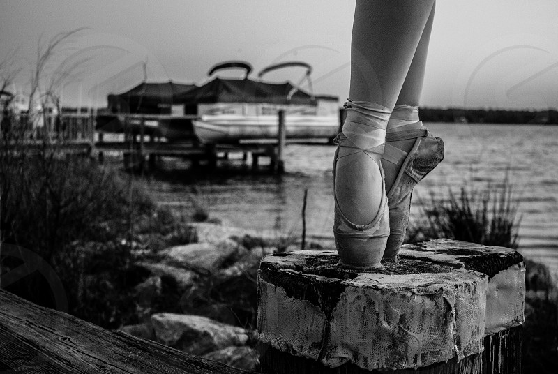 dance pointe ballet beach pier Maryland boats photo