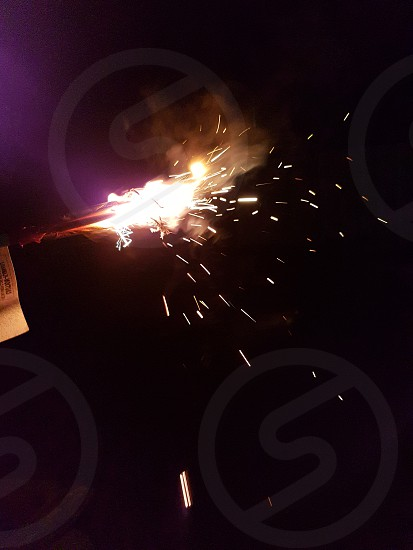 New Years sparklers photo