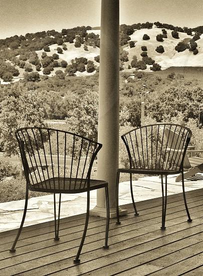black metal chair photo