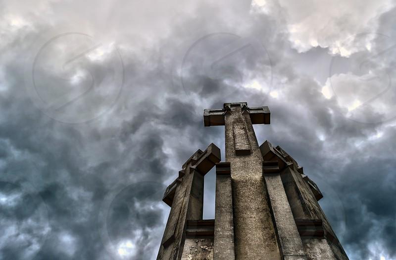 Three crosses. Monument in Vilnius. photo