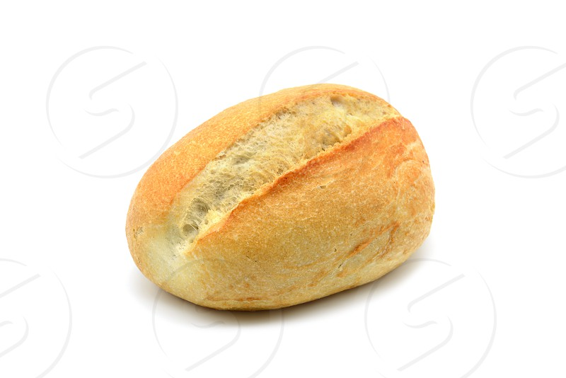 german bread roll on white isolated background photo