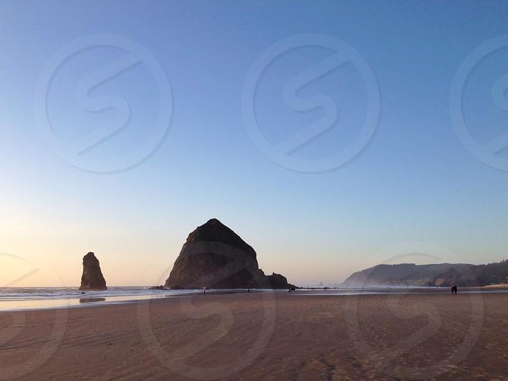 person on seashore photo