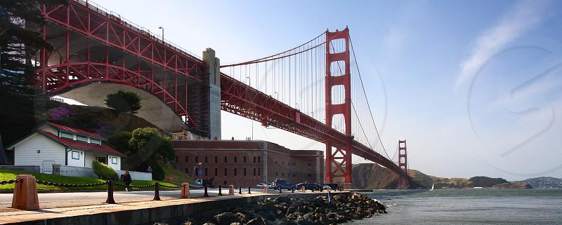 Fort Point below the Golden Gate Bridge.  San Francisco California. photo