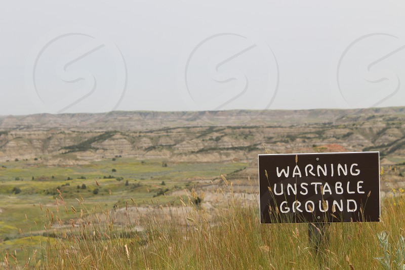 """Unstable Ground"" -Badlands of North Dakota photo"
