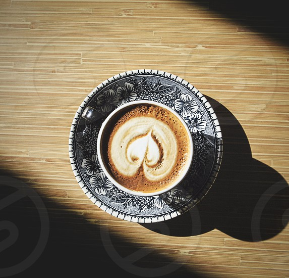 latte and shadows.  photo
