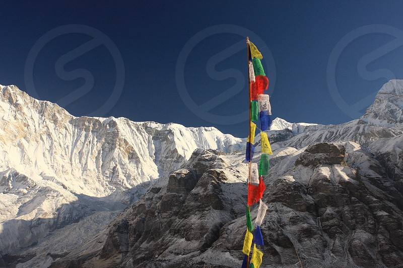 Annapurna Base Camp view Himalayas Nepal photo
