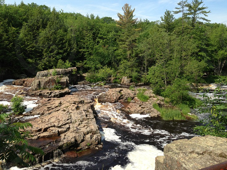 Dells of the Eau Claire in Wisconsin   photo