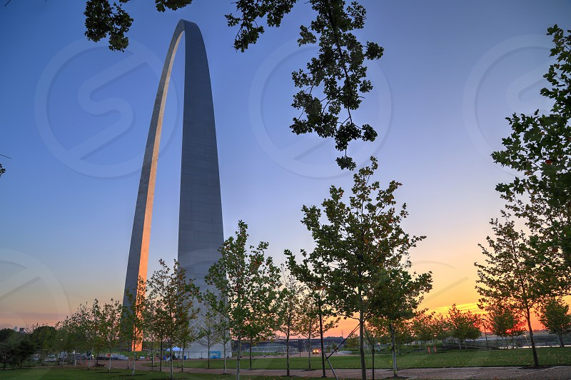 The Gateway Arch in St. Louis Missouri. photo