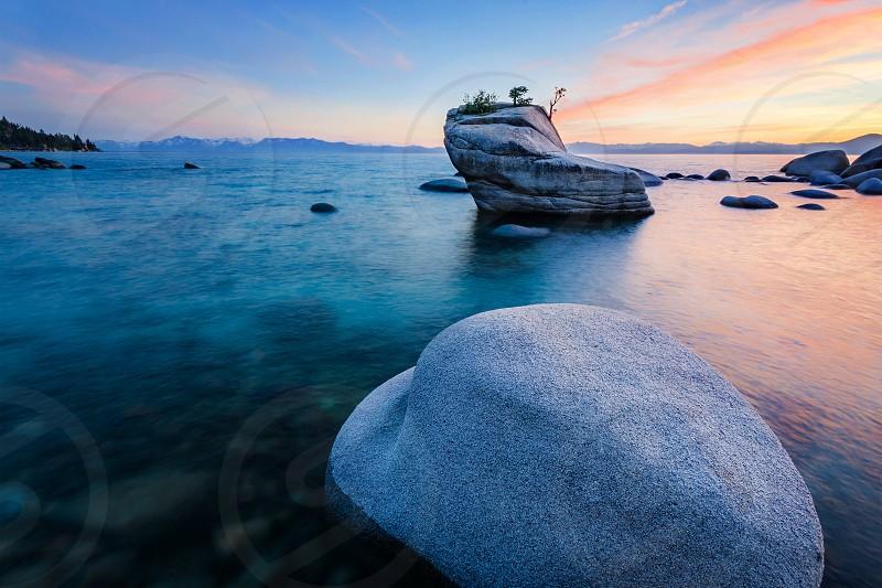 Bonsai Rock Lake Tahoe Nevada photo
