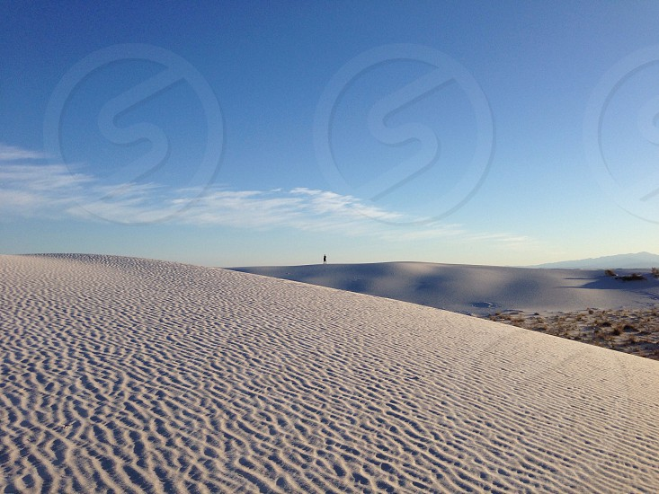 gray sands and blue sky photo
