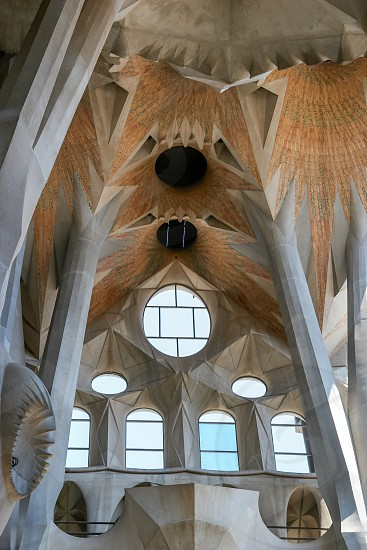 BARCELONA SPAIN/EUROPE - JUNE 1 : Detail from Gaudi's La Sagrada Familia in Barcelona on June 1 2006 photo