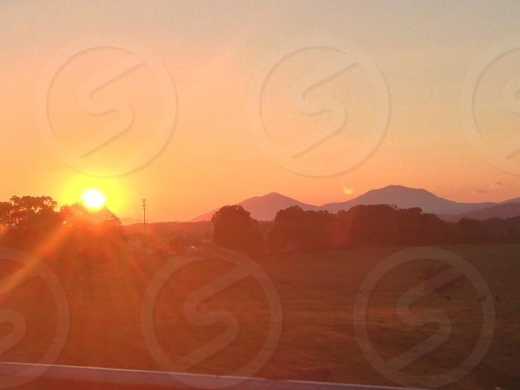 Appreciating the Blue Ridge Mountains as I drive home photo