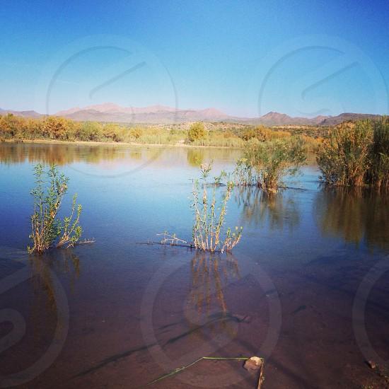 Water in the desert. photo