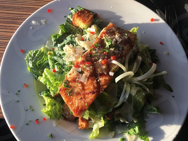 Salad; healthy; veggies; chicken; protein photo