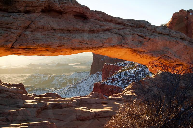 Sunrise at Mesa Arch Utah photo