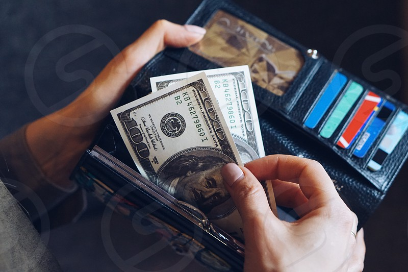 Money cash cash money payment cash payment dollars credit cards wallet finance personal finance banking business  photo