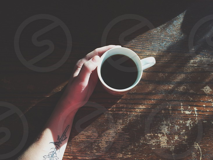 Nothing like a cup of black coffee. photo