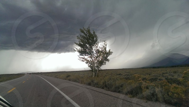 Roaring winds. #Wyoming | #nature | #rainstorm | #wind | #longroad | #isolated | #country | #ontheroad  photo