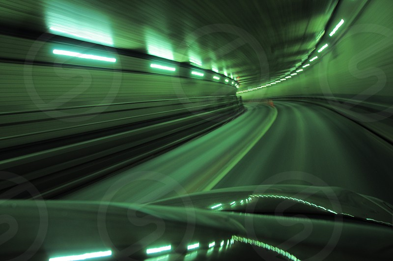 time lapse photography of subway with light turned on photo
