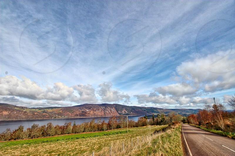 Loch Ness DoresFoyersInvernessLoch Ness View Sky Beautiful View Scotland Scottish Highlands photo
