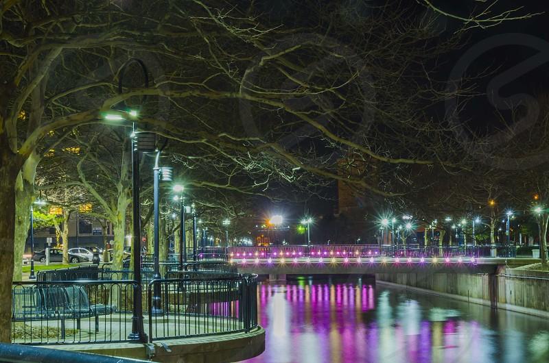 River at night photo