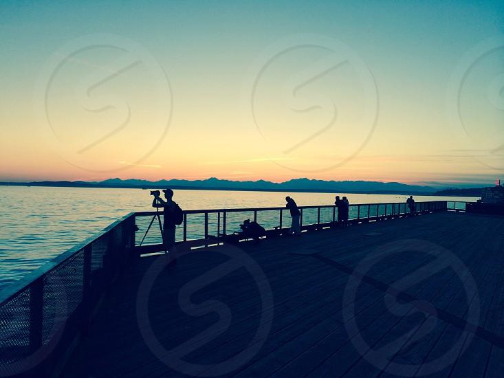 Photographer sunset photo