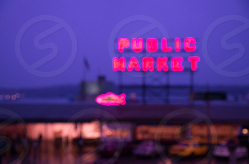 seattle pike street public market moment before closing photo