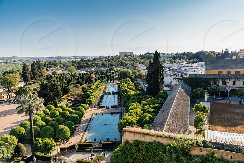 Castle of the Christian Kings (Alcazar de los Reyes Cristianos) it is a medieval fortress located in the historic centre of Cordoba next to the Guadalquivir River and near the Grand Mosque. photo