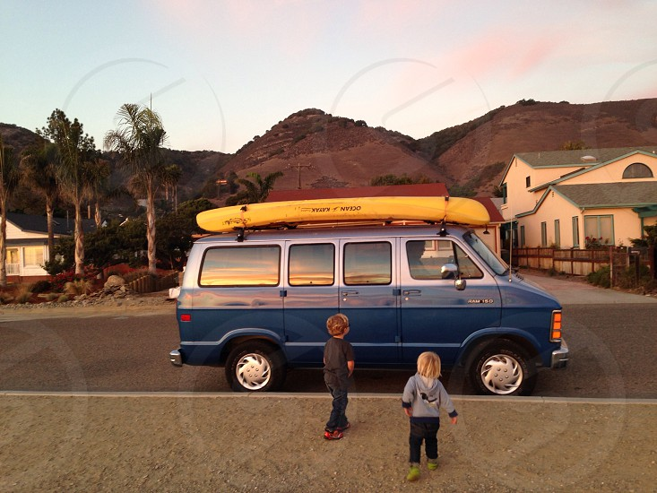 blue van photo