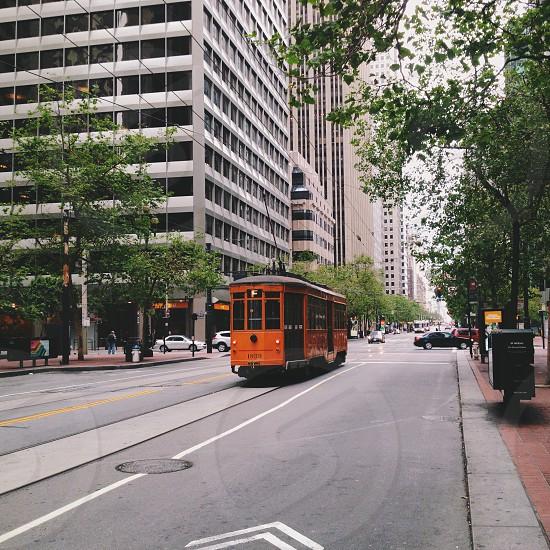 orange tram photo