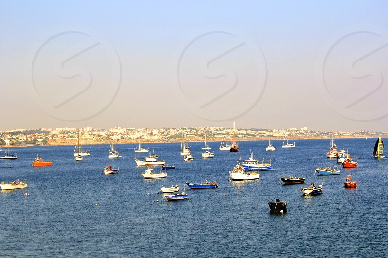 Gorgeous afternoon on the Atlantic. Cascais Portugal photo