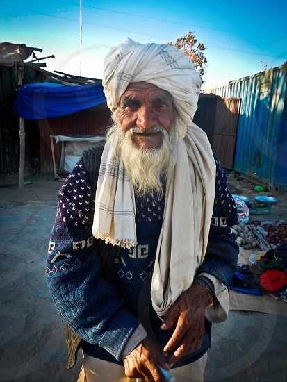 An old man in Ghazni Afghanistan  photo